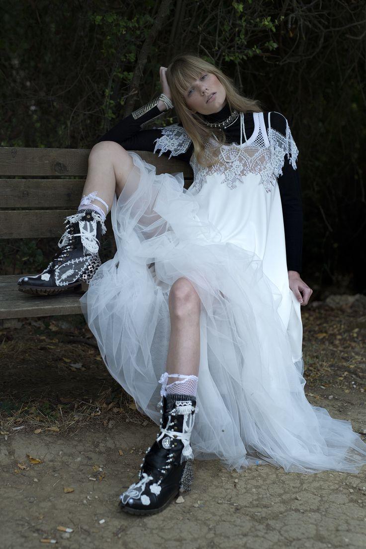 bridal dress by EVA KANELAKI
