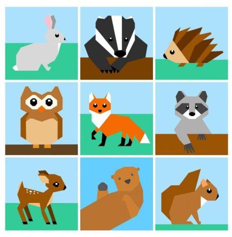 Woodland Creatures Paper Pieced Pattern Bundle