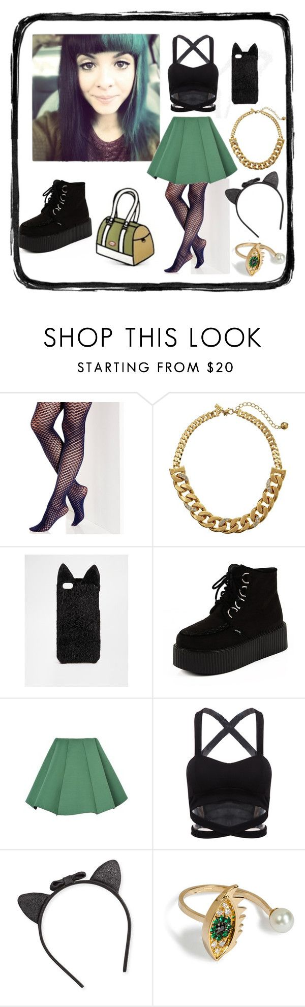 """""""Melanie Martinez Style #1"""" by meghan1 ❤ liked on Polyvore featuring Vince Camuto, Kate Spade, ASOS, Structured Green, JumpFromPaper and Delfina Delettrez"""