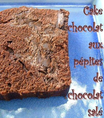 Une nouvelle recette tir�e des Confidences sucr�es de Pierre Herm� et Julie Andrieu, un cake au chocolat truff� d'�clats de chocolat sal�. Vous savez maintenant que c'est une association qui me pla�t beaucoup, apr�s ma tarte au chocolat