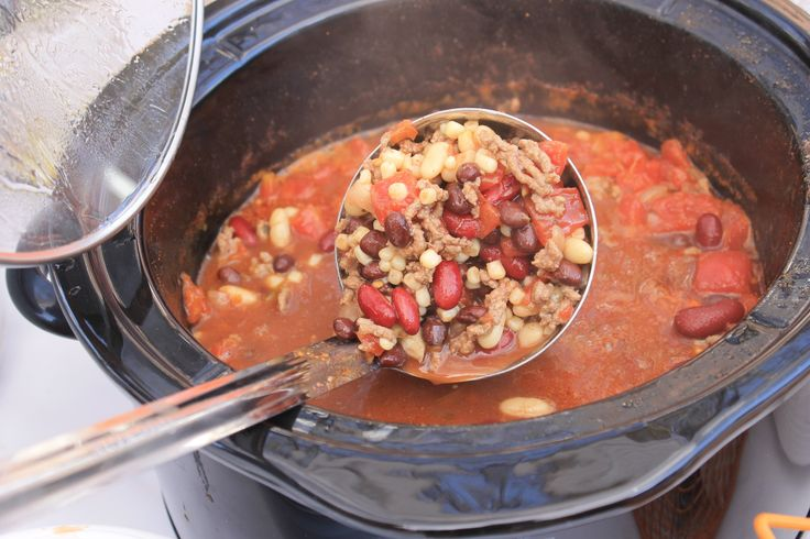 Best Recipe goes to Karen Gunter for her taco soup!  Ingredients 1 medium onion, finely chopped 1.5 lb ground beef fully cooked and drained 1 package dry Ranch dip mix 1 package dry Taco seasoning 15 oz can Rotel tomatoes, undrained 15 oz can petite diced tomatoes, undrained 15 oz can kidney beans, undrained 15 oz can pinto beans, undrained 15 oz can navy beans, undrained 15 oz can shoepeg or white kernel corn, drained. Mix all ingredients in a slow cooker!