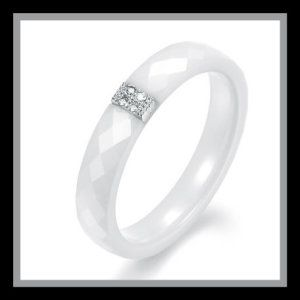Women's Gorgeous Multi-faceted White Tungsten Carbide Wedding Band Ring These Womans Ceramic Wedding Rings are Genuine Tungsten Carbide. The ceramic is hypoallergenic and will not rust or corrode. These ceramic wedding rings are scratch proof . http://theceramicchefknives.com/womans-ceramic-wedding-rings/ Women's Gorgeous Multi-faceted White Tungsten