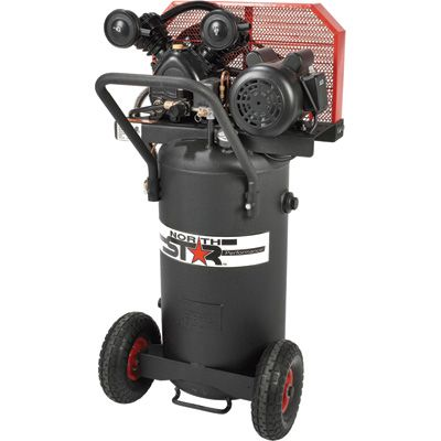 FREE SHIPPING — NorthStar Belt Drive Single-Stage Portable Air Compressor — 2 HP, 20-Gallon, Vertical, 5.5 CFM