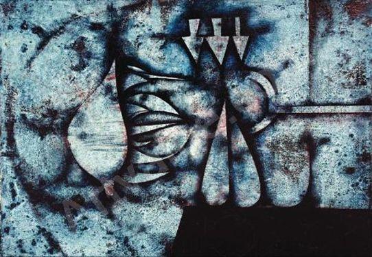 Mikuláš Medek - Sleeping angel (1971). #painting #art #Czechia
