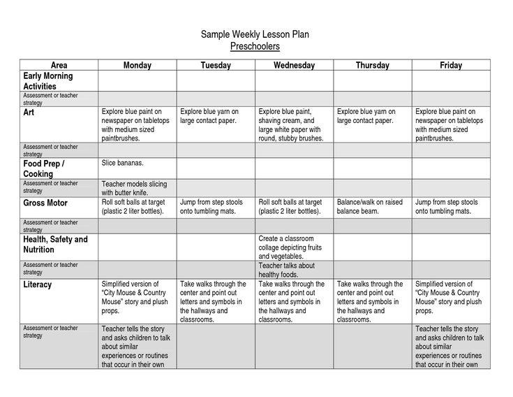 Themes Units Preschool Lesson Plans