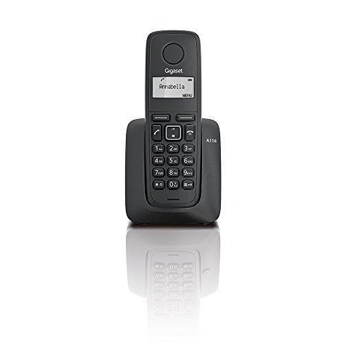 Oferta: 13.06€. Comprar Ofertas de Gigaset A116 - Telefono inalambrico dect digital, color negro barato. ¡Mira las ofertas!