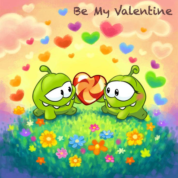 #valentine #printable #love #cute #cuttherope #omnom