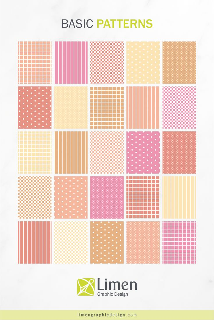 Pink & Ochre Basics Patterns by Limen Graphic Design