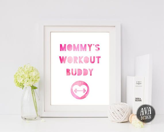 Mommy's Workout Buddy - cute little print for a CrossFit baby
