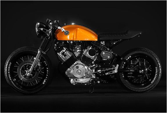 This custom Yamaha Virago was built by Greg Hageman of Docs Chops. This Mid-80s Virago Cafe was built for Season Two of Cafe Racer on the Discovery Channel. Greg Hageman has been blessed with an eye for finding treasure among a trash heap, transformi