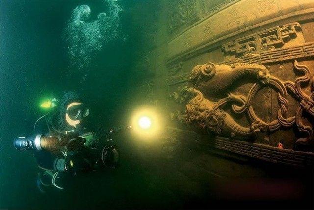 中国の千島湖 湖底遺跡ダイビングを予約は、Big Blue SCUBA
