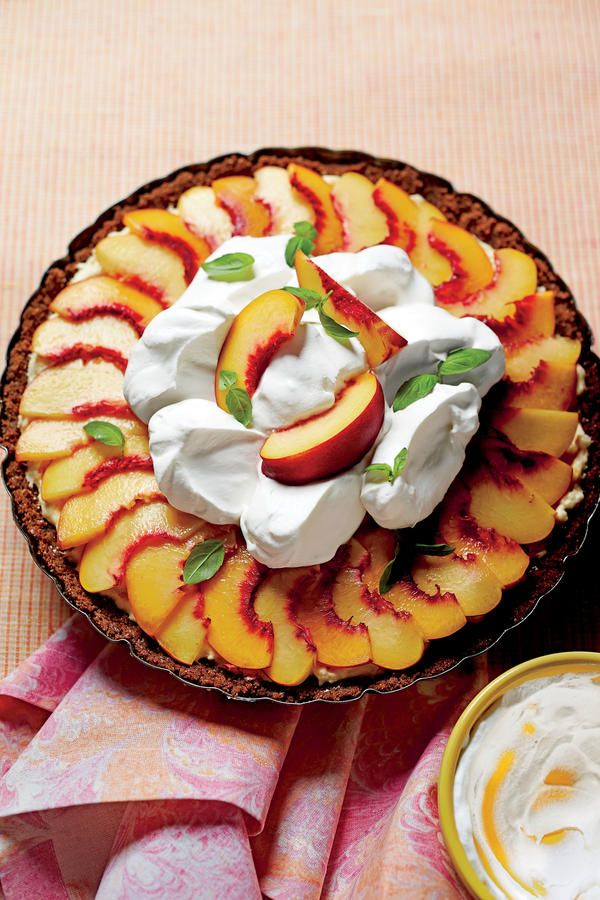 Peach Divinity Icebox Pie: This pie combines two of the South's favorite flavors: fresh peaches and fluffy, creamy divinity candy.