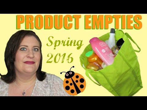 Spring 2016 ~ Product Empties ~ Fast Reviews Of My Recently Used Up Products - YouTube