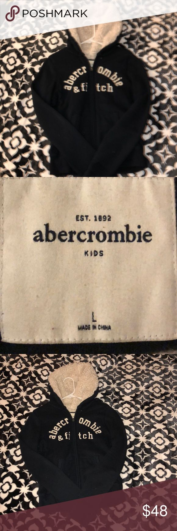 Abercrombie & Fitch Fur Lined Hoodie Abercrombie Hoodie  Large- L- Kids ((Fits a Small in Women's or Junior's))  No Stains, Rips, or Tares....  Fur Lining is in Great Condition   ❗️PRICE IS FIRM❗️  SMOKE FREE HOME Abercrombie & Fitch Tops Sweatshirts & Hoodies