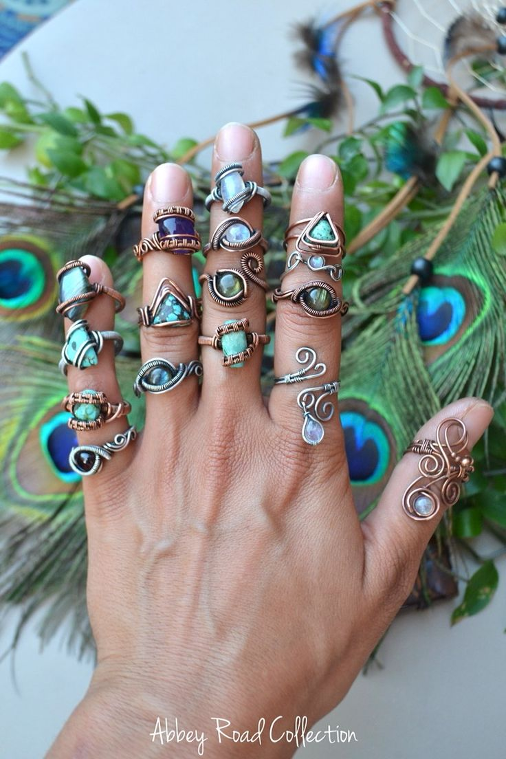*~*Which one is your favorite?*~* Bohemian Fantasy Wire Wrapped Jewelry by Abbey Road Collection