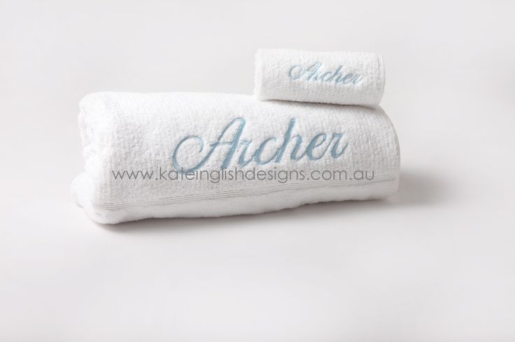 Baby boy towel sets for birth or christening gift.