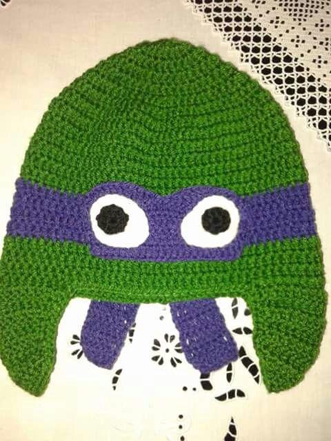 Crochet purple ninja turtle!  https://m.facebook.com/PinelopisHandmade/
