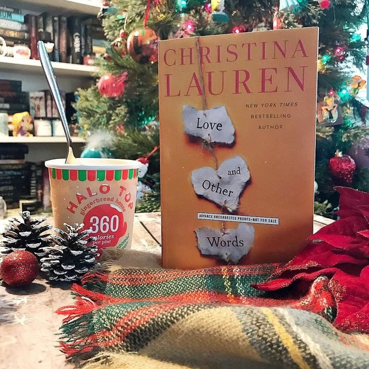 It has been a very long and exhausting day but I am happy to say that all presents are wrapped (except Santa ones)!! Now its time to treat myself to some @halotopcreamery ice cream! This new Gingerbread House flavor is my favorite!!  . . Coming up soon on my TBR is Love and Other Words by @christinalauren this book releases on April 10 2018 and I am so excited for it!! I will leave the synopsis below for you all to check out!! . __________________________________________________________ Love…