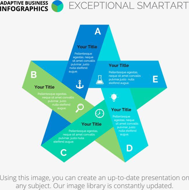Pentagrama grafico, Azul Estrella De Cinco Puntas, Geometría Creativa, Origami Estrella De Cinco Puntas Grafico PNG y Vector