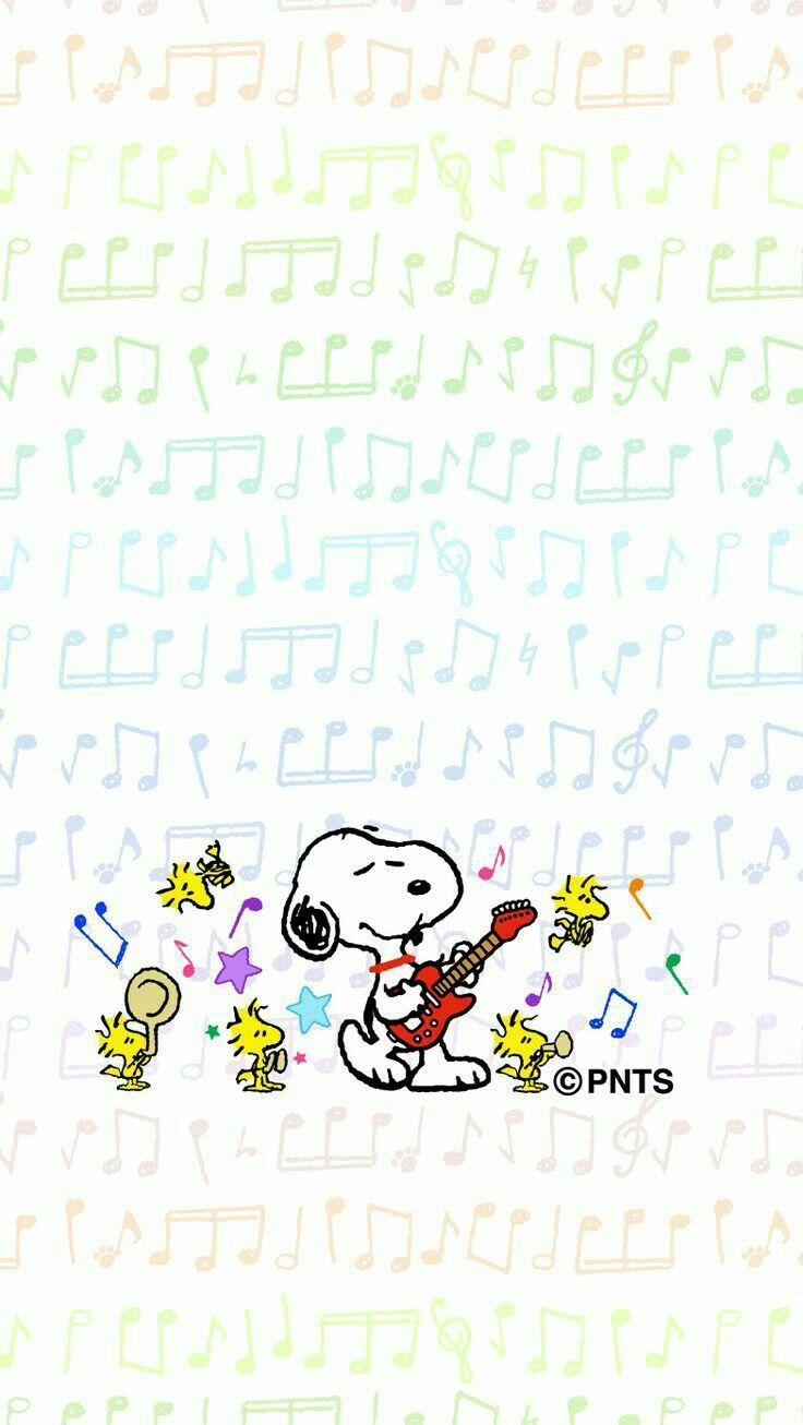 Woodstock quot peanuts quot desktop wallpaper - Rock On Snoopy