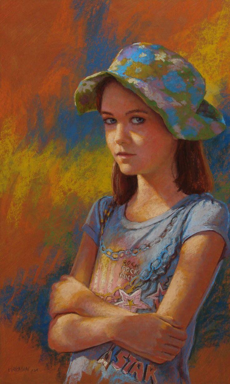Fine watercolor art for sale - Daily Paintworks Almost A Teeneger Original Fine Art For Sale Rita Kirkman