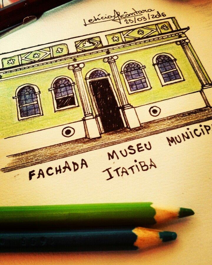 Fachada do Museu municipal de  Itatiba.