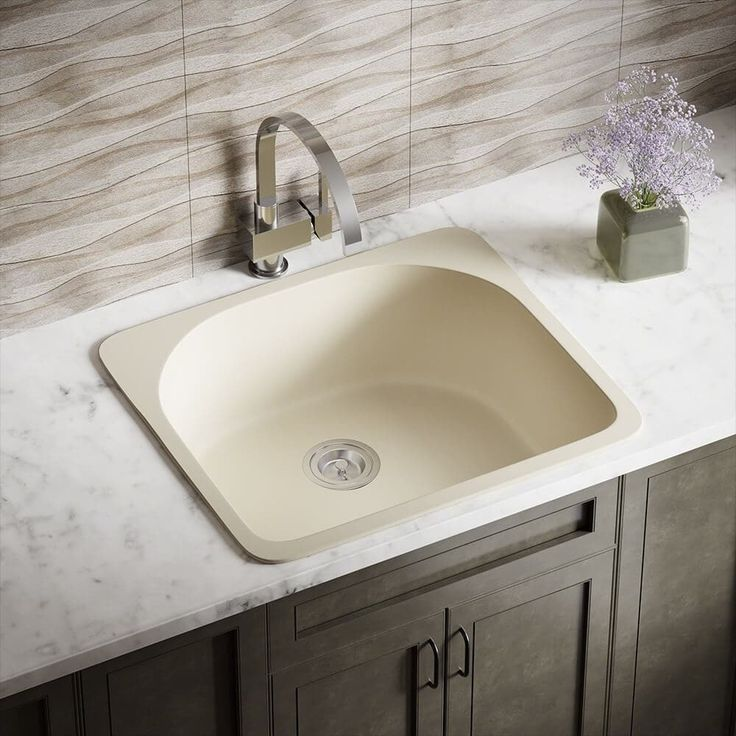 37 best dark moody kitchen features images on pinterest black mr direct trugranite t824 beige quartzite and acrylic d bowl topmount sink sink only workwithnaturefo
