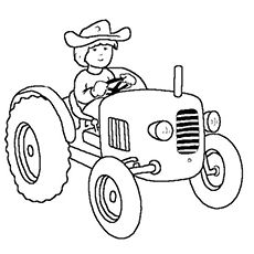 Top 25 Free Printable Tractor Coloring