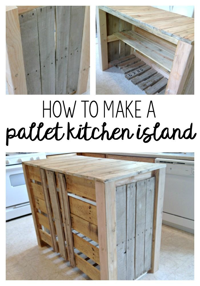 DIY Pallet Kitchen Island for less than