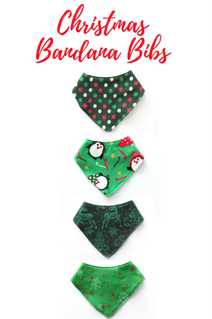 These cute and stylish Christmas bandana bibs are perfect for your little one. They are made with a soft flannel front and backed with terry cloth for extra absorbency. These bandana bibs make a great baby shower gift! | Drool bib | boy bibs | girl bibs #bandanabib #christmasbaby