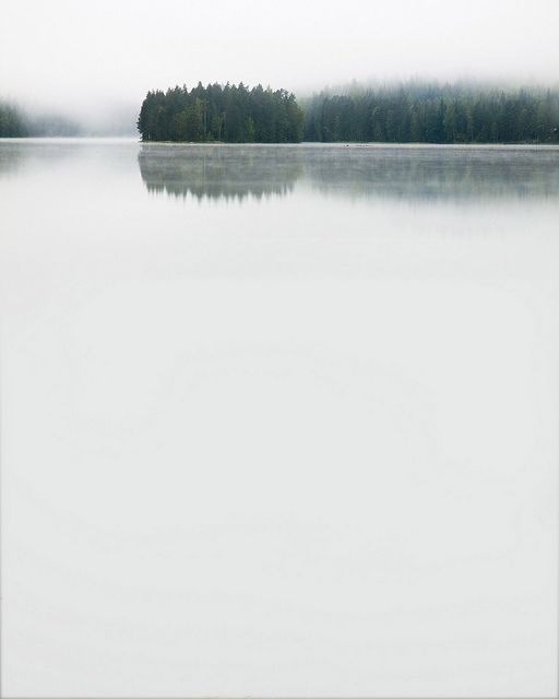 Milky water landscape, Helvetinjärvi (Lake Hell), Finland