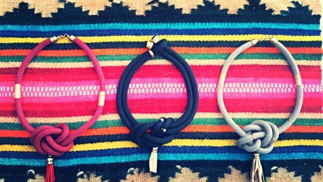 Χειροποίητα κολιέ απο ορειβατικο κορδόνι www.etsy.com/shop/bizeli