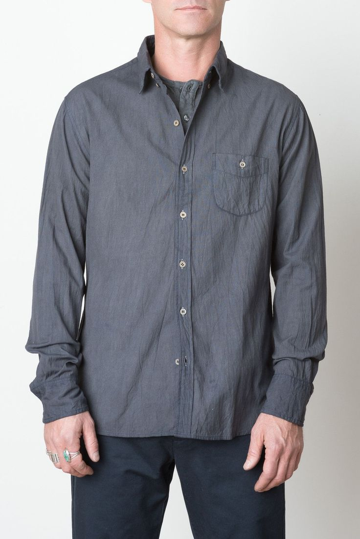 Heavy Clean Madras Shirt In Iron 2