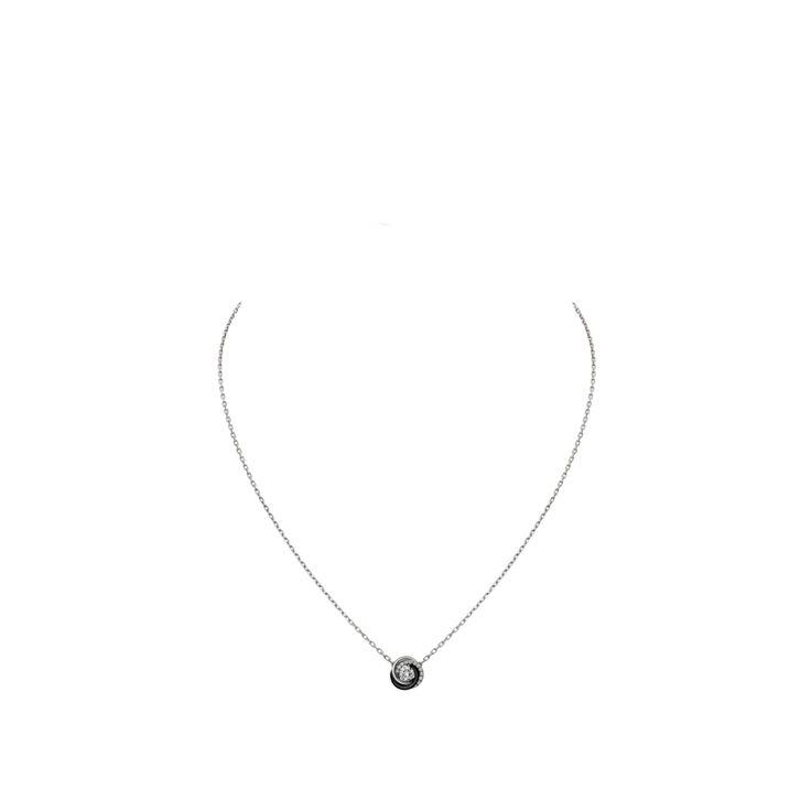 Collar Trinity de Cartier Oro blanco, diamantes, cerámica