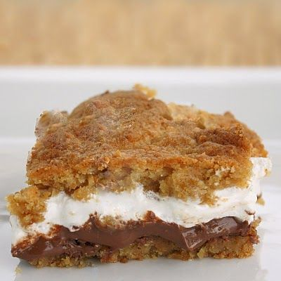 S'mores barsDesserts, Cookies Dough, Chocolates, Smores Bar, S'More Bar, S'Mores Bar, Bar Recipe, Food, S More Bar