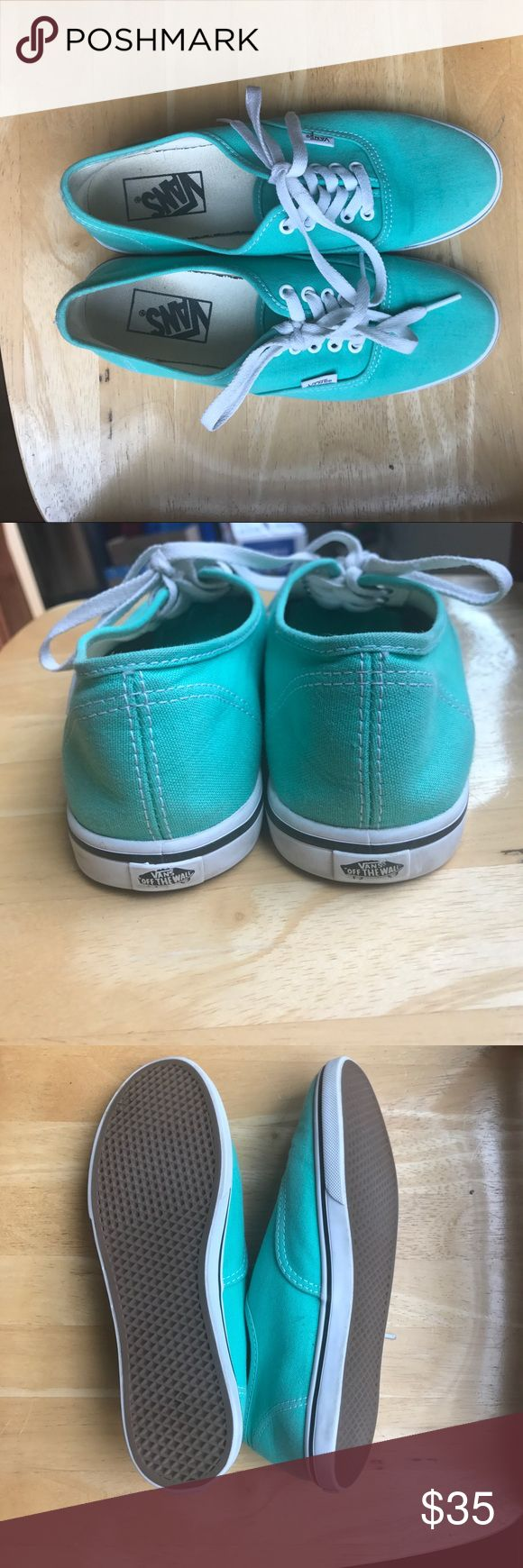 Vans Authentic Lo Pro- Teal Teal Vans Authentic Lo Pro. Worn twice. Laces and sides are still white. Excellent condition. Vans Shoes Sneakers