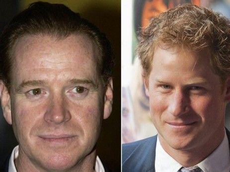 Gewisse Ähnlichkeit ist da: James Hewitt und Prinz Harry (Archiv) Quelle: key