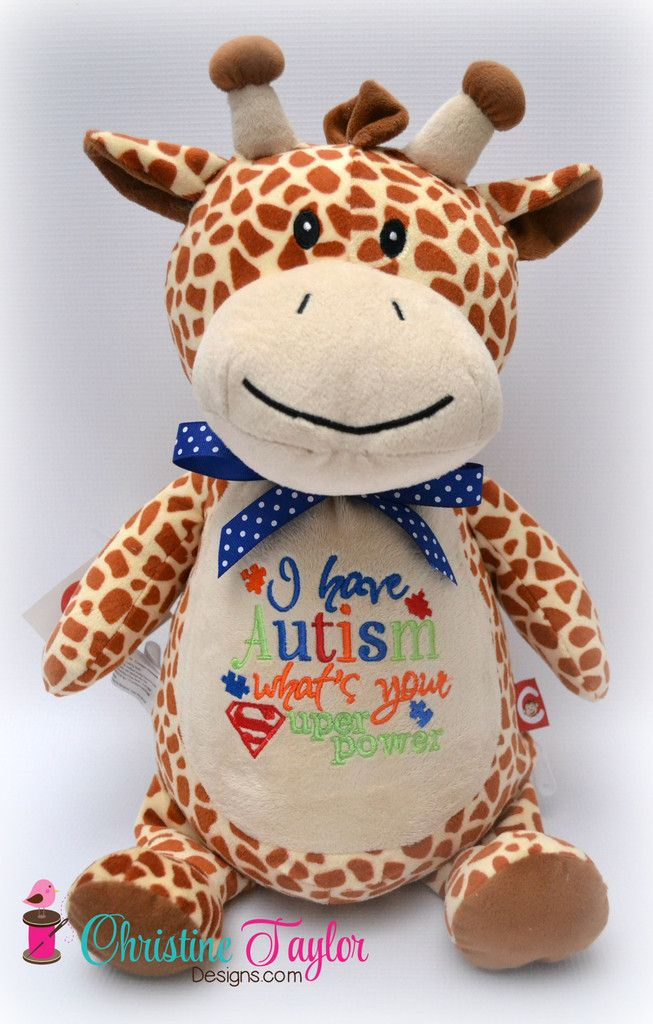 Autism Awareness Giraffe