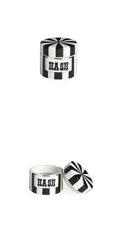 Canisters And Jars 20654 Jonathan Adler Canister Hash Black White It Now Only 26 On Ebay