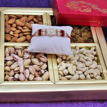 Rakhi with Dry fruit box