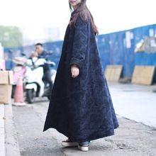 2017 Winterjas Vrouwen Jas Dunne Gewatteerde Chinese Stijl Jacquard Herfst Pocket Katoen gewatteerde Jas(China)
