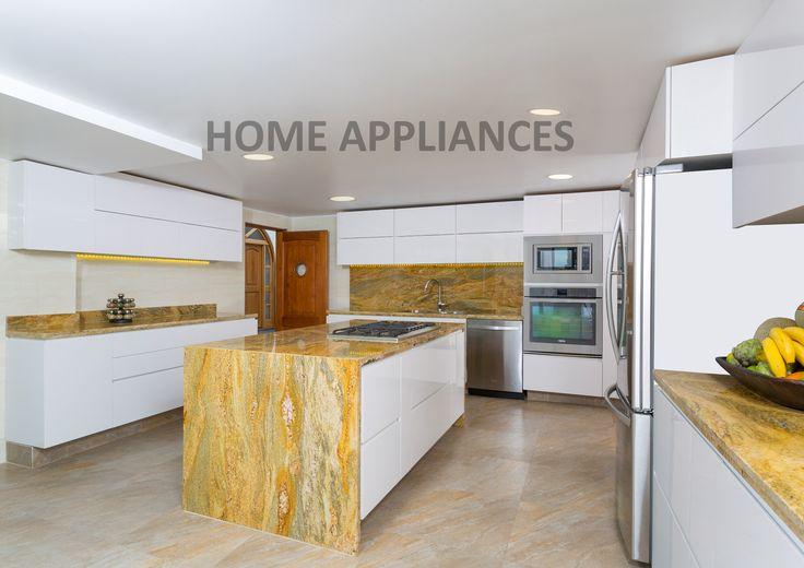 cocinas modernas #cocinas #kitchen #design  #Home #homeappliances #Electrodomesticos #Persianas #Art #Shopping #Hornos #campanas #Muebles #Neveras
