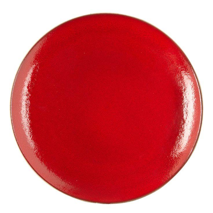 Red 'Pico' dinner plate - Debenhams.com