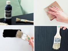 DIY-Anleitung: Kühlschrank mit Tafelfarbe bemalen via DaWanda.com