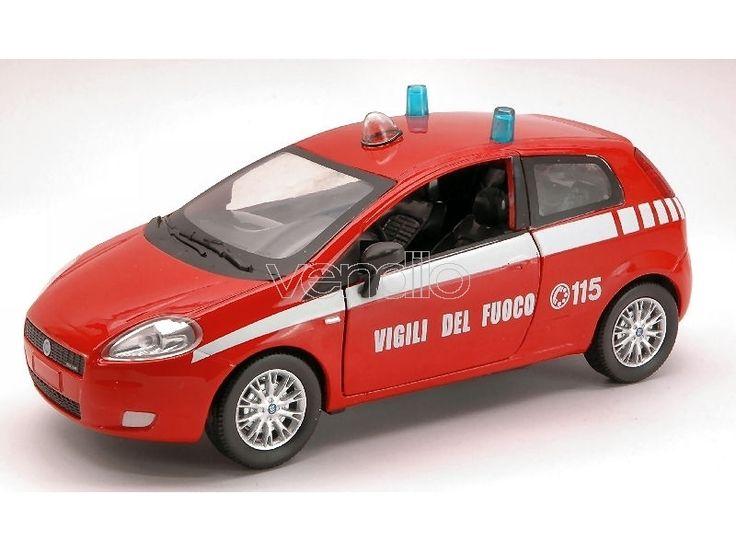 Auto 1/24 New Ray NY71136 FIAT GRANDE PUNTO VIGILI DEL FUOCO 1:24 ...