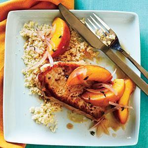 Skillet Pork Chop Sauté with Peaches   MyRecipes.com