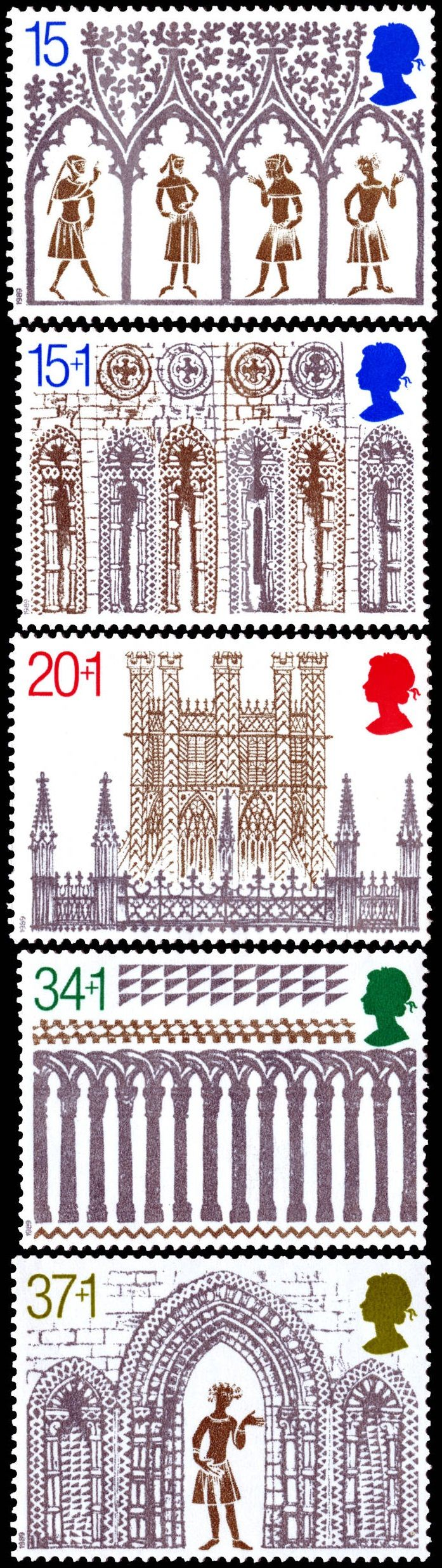 Royal Mail 1989 - Christmas. 800th Anniversary of Ely Cathedral http://rmspecialstamps.com/##stamps