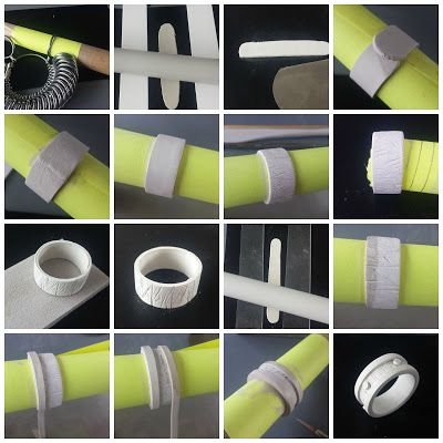 Metal clay, could be done in polymer                                                                                                                                                                                 More