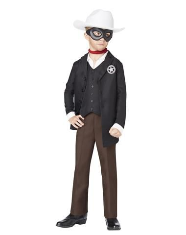 Lone Ranger costume for boys - easy to put together from pieces already in their closet, with a few added accessories