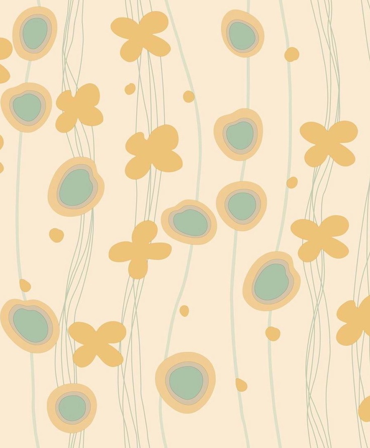 Our California Collection, features this abstract botanical print perfect for a nursery or child's bedroom.